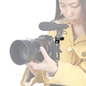 """Image 4 - NICEYRIG Soğuk Ayakkabı Dağı 1/4 """"Vida Sıcak ayakkabı standı kamera kafesi Rig 1/4 Soğuk Ayakkabı Flaş Mikrofon Braketi DSLR Kafes Destek rig"""