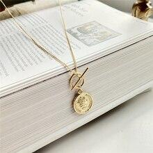 5ce752122291 925 plata esterlina Original figura Señora Reina de la moneda colgante  collar de oro gargantillas moda Collar para las mujeres 2.
