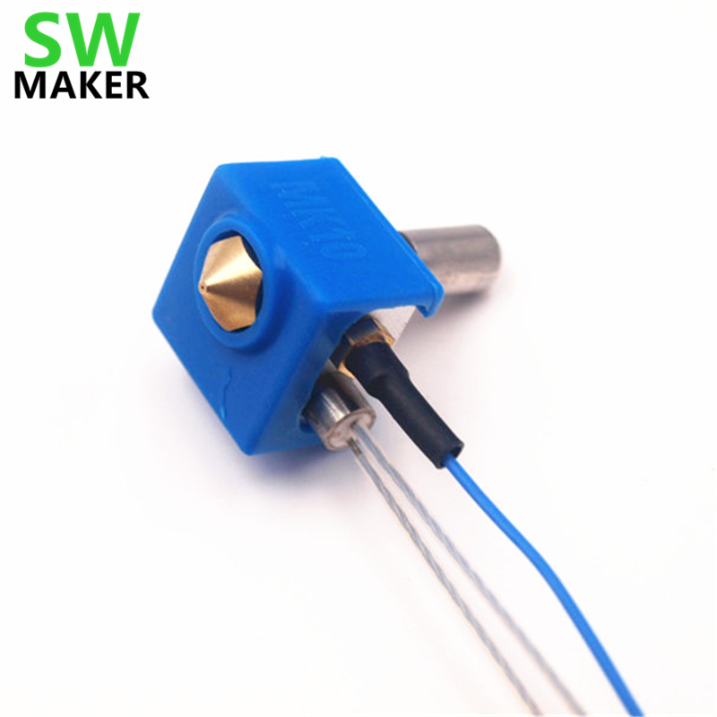SWMAKER replacement MK10 hotend extruder kit 1.75mm with silicone sock for Flashforge Dreamer/Creator Pro 3D printer spare parts 1 75mm fully assembled dual extruder for flashforge creator dreamer 3d printer