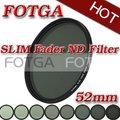 Fotga тонкий фейдер переменная регулируемая ND ND2 к ND400 52 мм нейтральной плотности для фотостудия