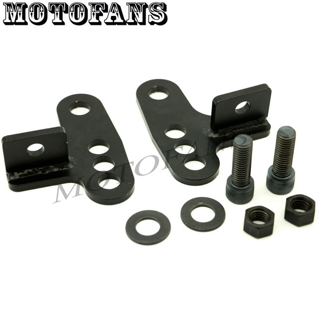 "Motofans - Rear Adjustable Lowering Drop Kit 1"" 2"" 3"" for Harley Sportster 883 1200 XL 48 Custom 00 01 02 03 04 05 06 07 08 09"