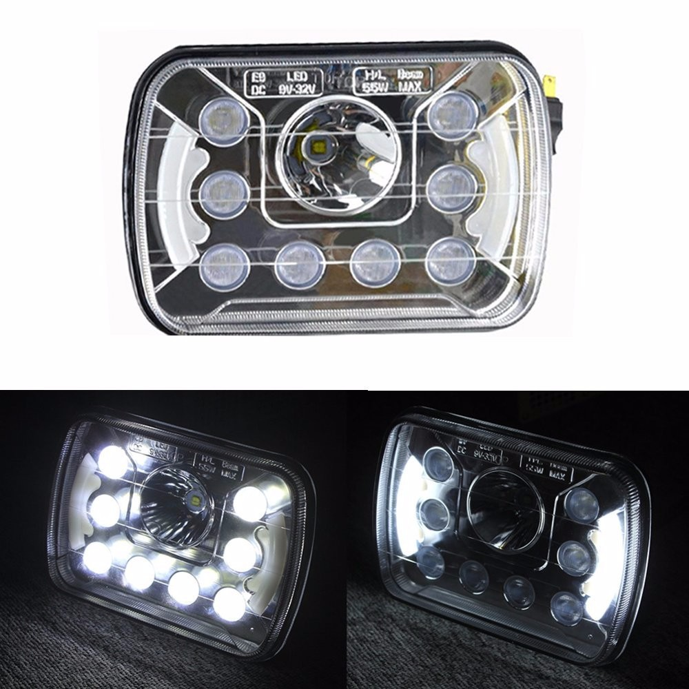7x6 LED Headlight truck head lamp Sealed Beam Replacement HID Xenon H6014 H6052 H6054 for truck аккумулятор yoobao yb 6014 10400mah green
