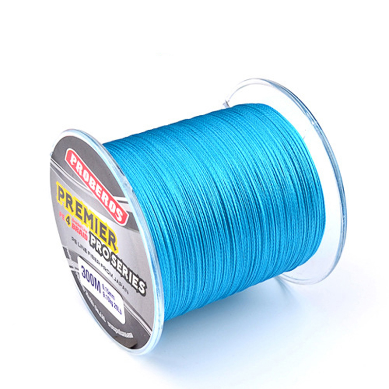 300M PE Multifilament <font><b>Braided</b></font> <font><b>Fishing</b></font> <font><b>Line</b></font> Super Strong <font><b>Fishing</b></font> <font><b>Line</b></font> Rope <font><b>Fishing</b></font> Rope Cord <font><b>6LB</b></font> - 80LB 4 Strands Carp image