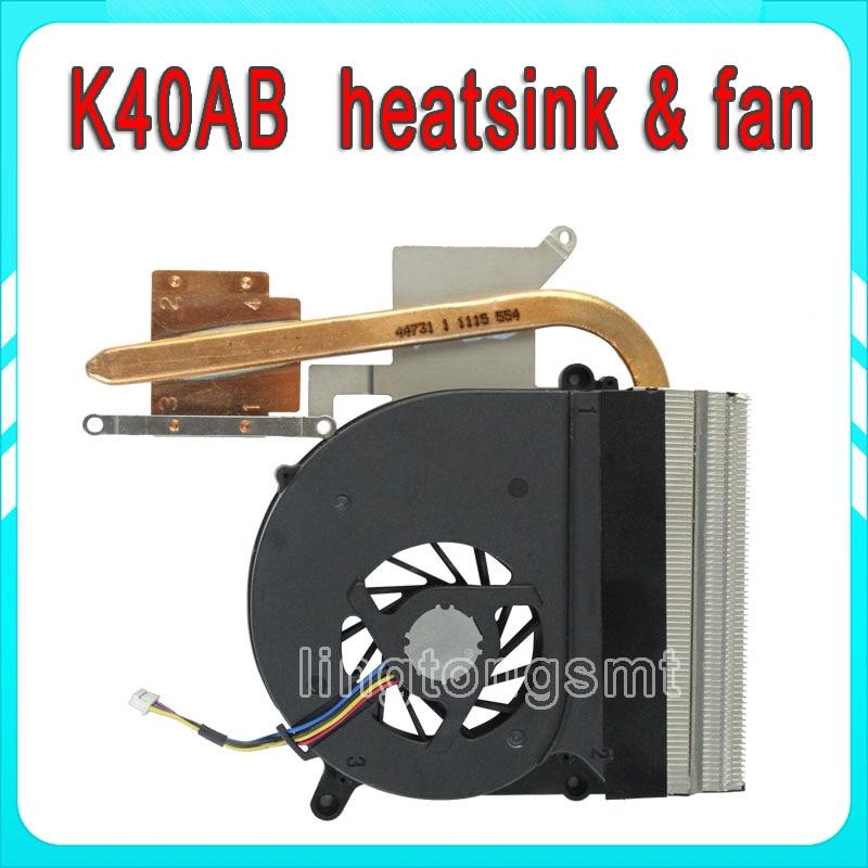 Original Laptop CPU Cooling Radiator Heatsink/Fan for Asus K40 K50 K40AB K50AB K40IJ K40AF X8AF Notebook free shipping laptop cpu cooling heatsink for asus k42d k42dr k42dy a40d x42d k42jd