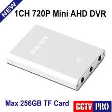 HD 720 P 1Ch Mini AHD DVR Автомобиля/Автобуса/Дома Использованы 1 Канала CCTV DVR Обнаружения Движения С Автомобиля/Камеры ВИДЕОНАБЛЮДЕНИЯ в Реальном времени Поддержка 256 ГБ SD Карты