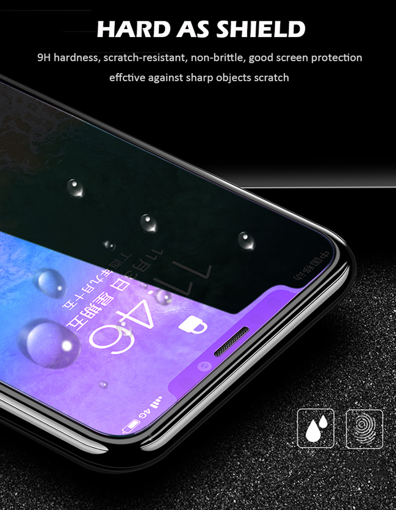 KIPX1127_2_Anti Blue Light Tempered Glass for iPhone 6 6S 7 8 Plus XS XR XS Max 9H 2.5D Protective Film