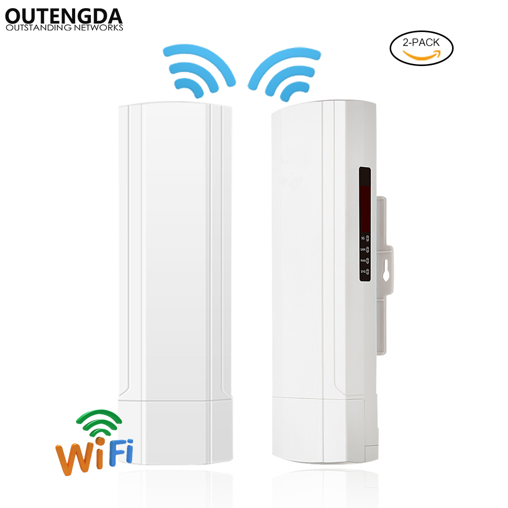 Wireless Outdoor CPE AP 3km Long Range 2.4Ghz 300Mbs 14dBi ANT Wireless Bridge Digital Display WiFi AP Router With POE Adapter