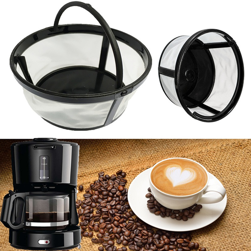 Morden 1pc 4 Cup Basket Style Permanent Coffee Filter Diy Dripper Pour Over Cafe Home Maker Reusable In Tea Sets From