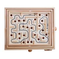 Children Educational Toys Wooden Puzzle Toys Brain Teaser Puzzle Toy Mini Maze Intellectual Development Toy