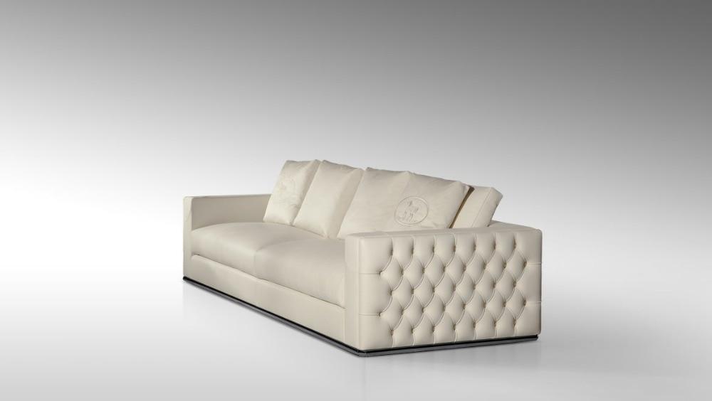 ộ_ộ ༽Top graduado italiano cuero genuino sofá seccional sofá de la ...