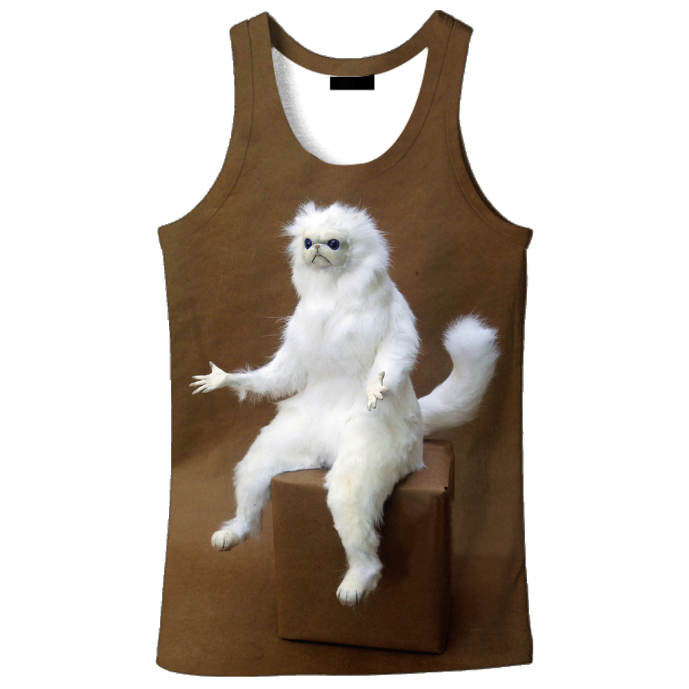 6533b4e93b181 2018 hot sale New fashion 3D men s Lightning cat print 9 size casual  Tanktop custom made print free shipping-in Tank Tops from Men s Clothing on  ...