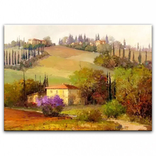 100% hand painted oil painting Home decoration high quality landscape knife painting pictures     DM16072102