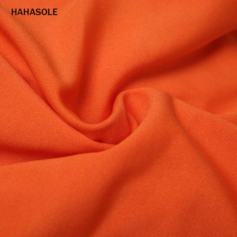 HAHASOLE сексуальный комплект Йога женский, черный оранжевый спортивный костюм Женская обувь с полым каблуком кроссовки спортивные костюмы-Комбинезоны женские HWA3915-40