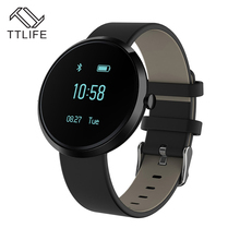 Ttlife marca bluetooth pulsera inteligente de la presión arterial monitor de ritmo cardiaco sport smart watch reloj impermeable para iphone android