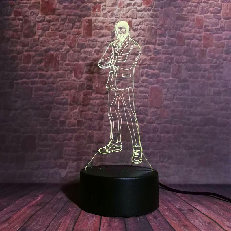 Fortnight жнец джон фитиль рисунок 3d иллюзия светодиодные лампы 7