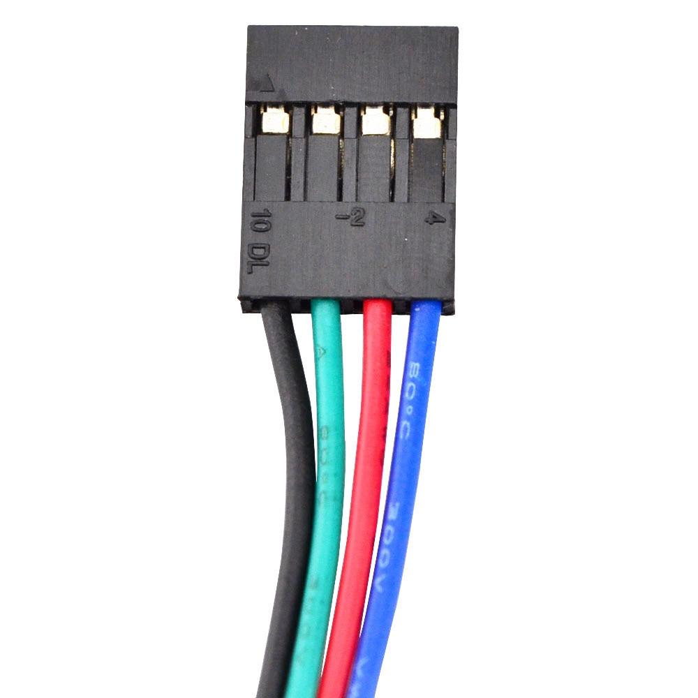Bateau gratuit! 5 pièces 4 fils Nema 17 moteur pas à pas 42 BYGH 40mm 1 m câble 45Ncm (64oz. in) 2A 17hs4401 moteur pas à pas pour imprimante 3D - 5