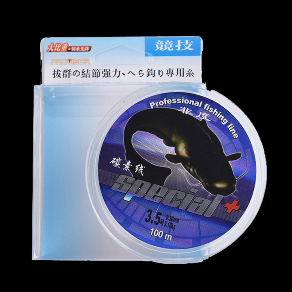 WALK FISH 100M Brand Top Grade Japanese 0.10-0.50mm Fluorocarbon fishing line Carbon Fiber Leader Line fly fishing line pesca