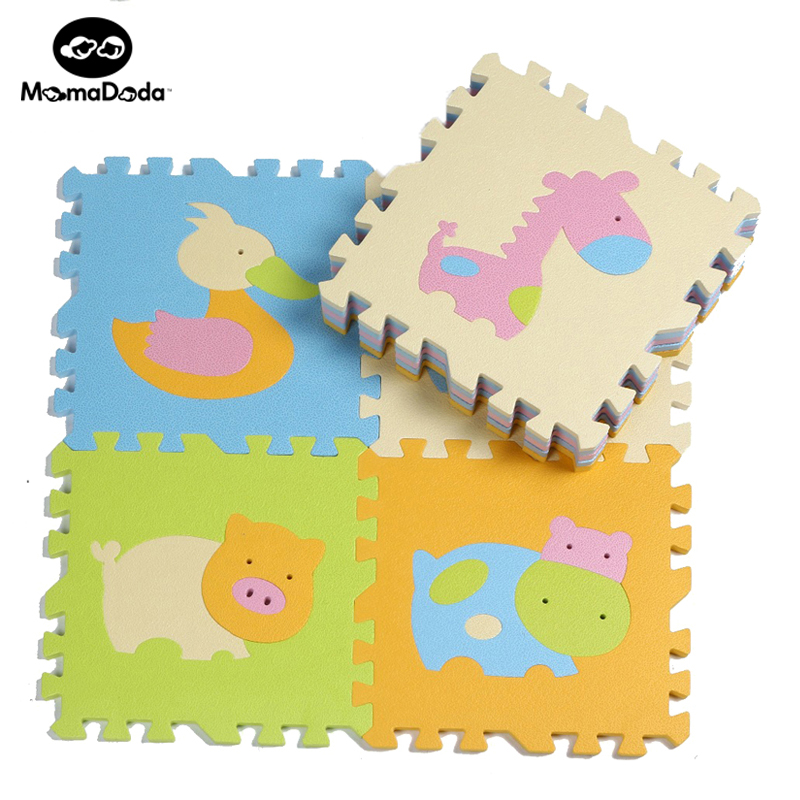 9pcs קריקטורות בעלי חיים תבנית שטיח - צעצועי פעוטות