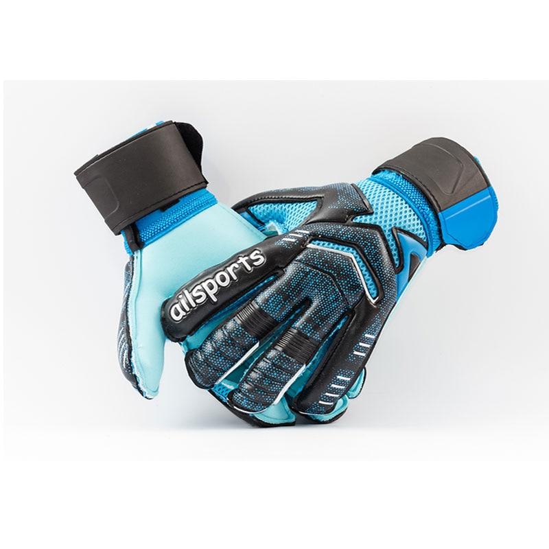 New Design Professional Soccer Goalkeeper Glvoes Latex Finger Protection Children Adults Football Goalie Gloves 9