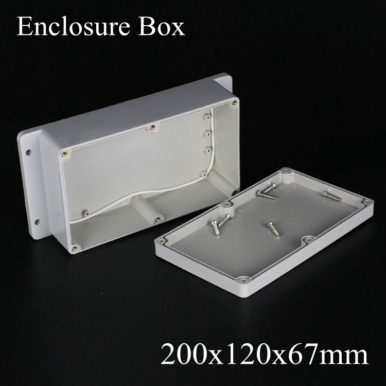 200*120*67mm IP66 ABS Waterproof electronic enclosure project box Distribution control switch junction outlet case 200x120x67mm стоимость