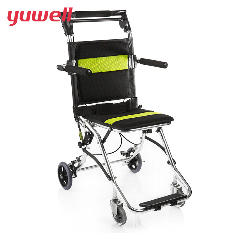 yuwell H2000 Wheelchair Folding Back Portable Lightweight Wheelchair Use for Children Elderly Handicapped Medical Wheel Chair outdoor folding power motorized handicapped electric wheelchair