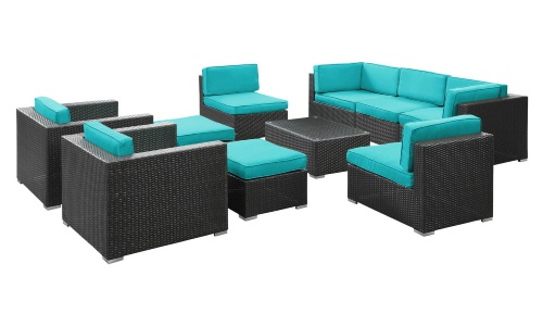2017 New Arrival Sale Outdoor Bali Synthetic Rattan Round Lounge Furniture