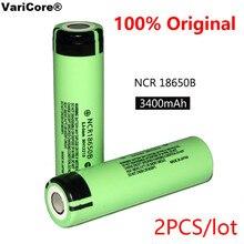 Bateria de Lítio Recarregável para Lanterna Baterias plus Frete 2 PCS 100% Novo Original Ncr18650b 3.7 V 3400 MAH 18650 Grátis