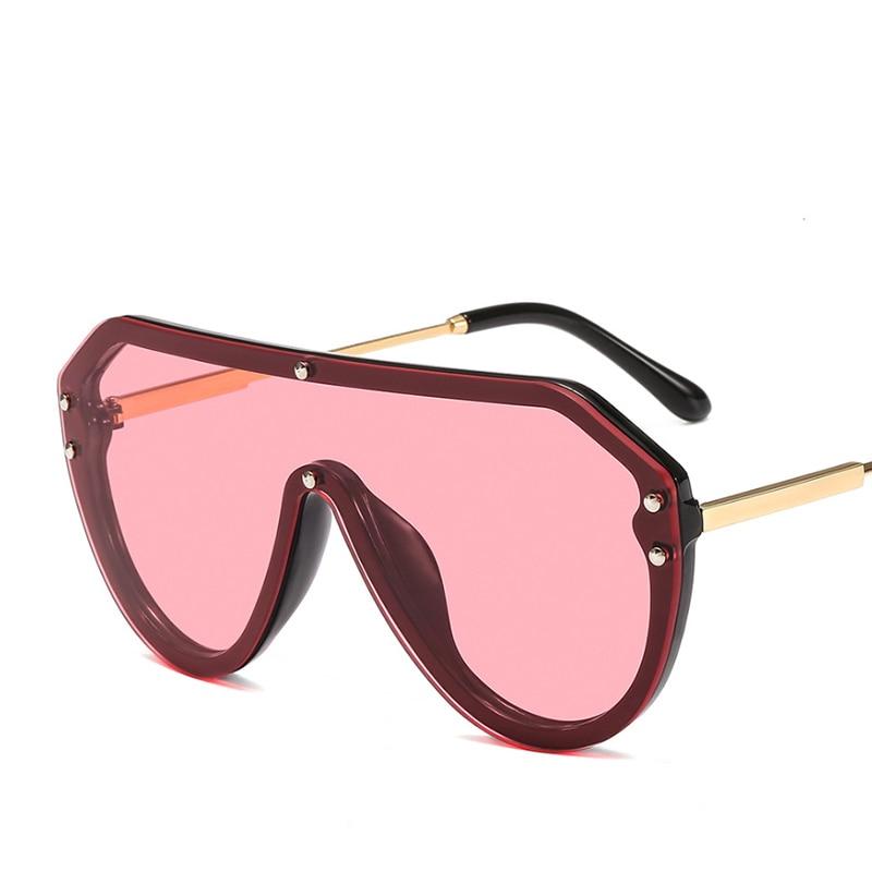 2019 New F Watermark One-piece Sunglasses PC Copy Film Men Women Sunglasses Girls Personality Colorful Fashion Wild Sun Glasse (28)