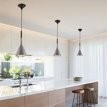 Bar Grau Anhänger Beleuchtung Küche Insel Anhänger Licht Schlafzimmer  Moderne Lichter Büro Lichter Studie Decke Lampe Freie Birne