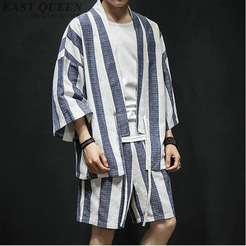 Yukata haori men Japanese kimono cardigan men samurai costume clothing kimono jacket mens kimono shirt yukata haori FF777-in Asia & Pacific Islands Clothing from Novelty & Special Use    1