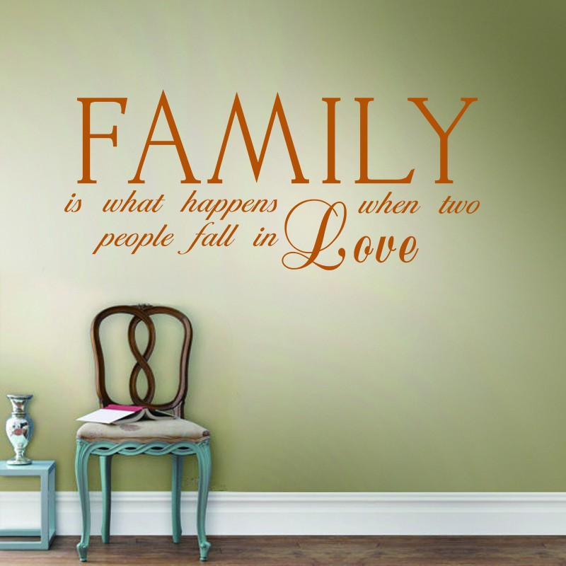 Two People Fall Love Family Wall Decal Romantic Quote Wedding