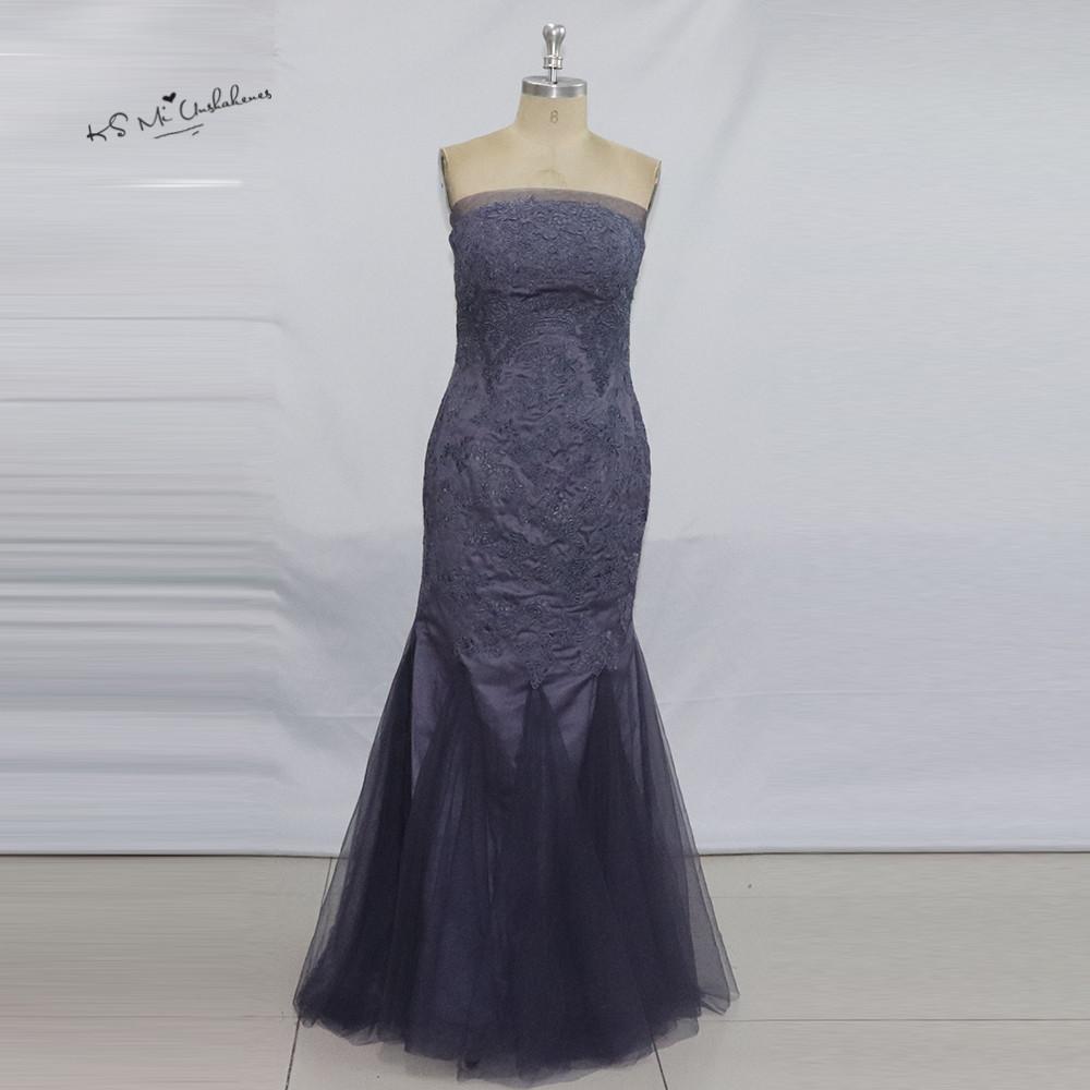 Vestido Longo de Festa avondjurk Purple Mermaid Evening Dresses Long ...