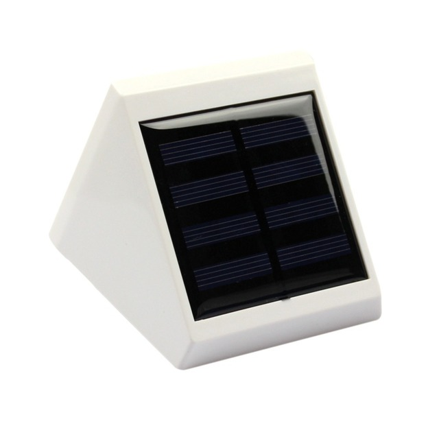 Goeswell 4 LED Light Solar Garden Waterproof Outdoor Garden Yard Wall Pathway Lamp White