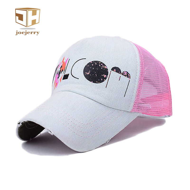 joejerry Summer Mesh Breathable Girl Baseball Cap Trucker Caps Gorras Snapback Graffiti Hats For Women cntang brand summer lace hat cotton baseball cap for women breathable mesh girls snapback hip hop fashion female caps adjustable