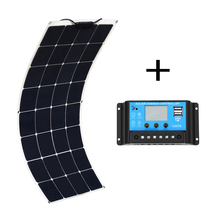 Xinpuguang Solpanel 18V 100W solar panel with 12V/24V 10A controller Panneau solaire kit Zonnepaneel 100 watt pannello solare