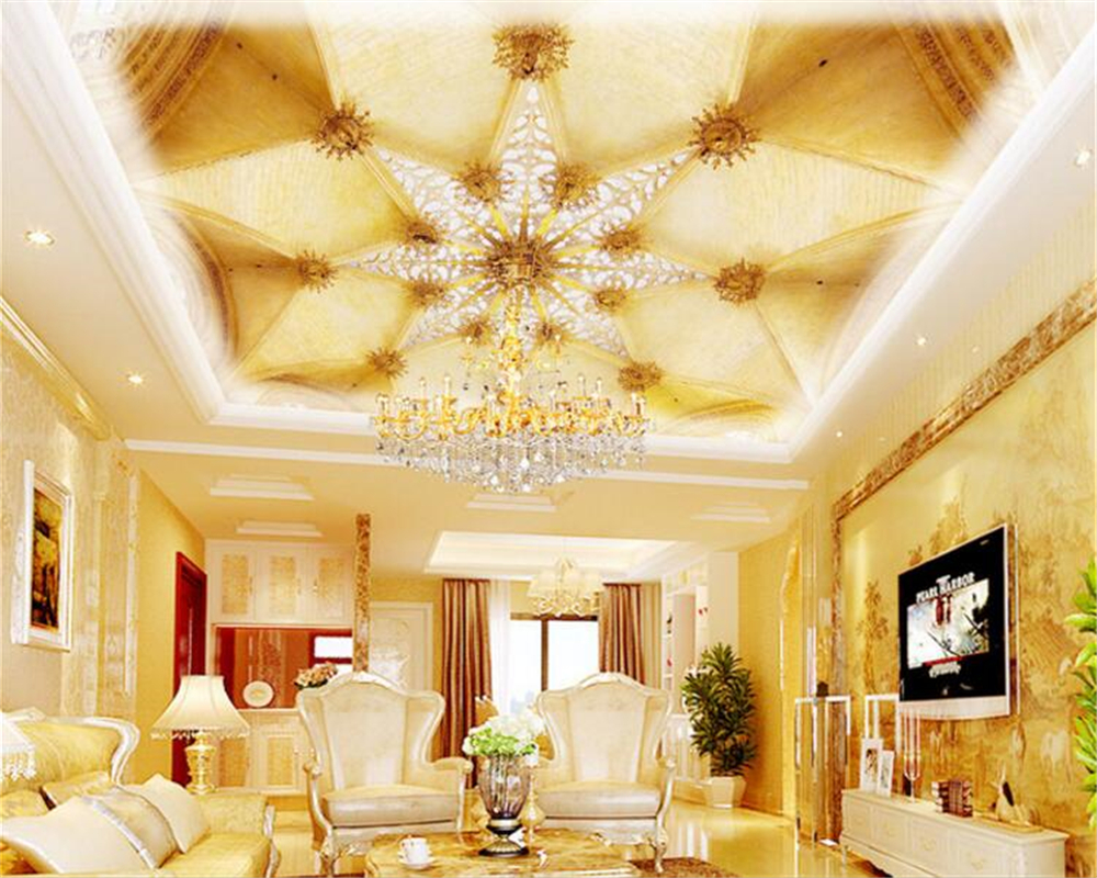 beibehang European fashion aesthetic wallpaper interior ceiling mural decoration design background papel de parede papier peint