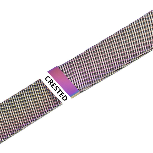 CRESTED Strap For Apple Watch band Milanese Loop apple watch 4 3 band iwatch band 42mm 38mm correa 44mm/40mm pulseira bracelet 5