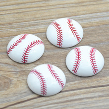 10 STKS 32mm Kawaii hars Baseball Softbal, sport Resin Cabochon Flatbacks Scrapbooking, Hars Bal Miniaturen, gratis Verzending