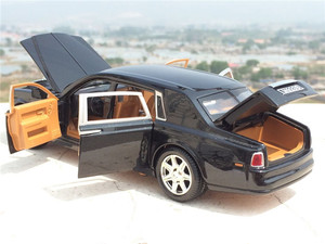 Image 5 - גבוהה סימולציה 1:24 רולס רויס פנטום התארך Cohes Diecast סגסוגת רכב מצב עם שש דלת לילדים מתנת צעצוע אוסף