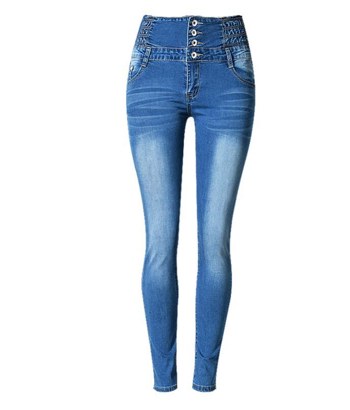 ФОТО Ladies High Waist  Jeans Leggings Stretch Sexy Female  Skinny Long Pencil Pants