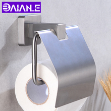 купить Creative Toilet Paper Holder Stainless Steel Paper Towel Holders Rack Wall Mounted Bathroom Hardware Tissue Roll Paper Hanging по цене 1247.36 рублей