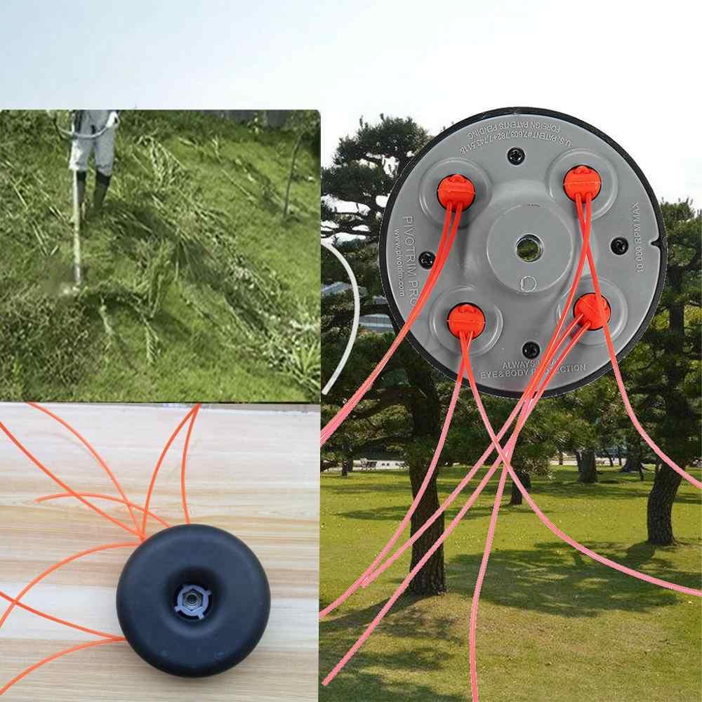 Cabezal de corte de césped de plástico esmerilado, cortacésped de cuerda superior, accesorio de cortacésped, cortacésped de repuesto para jardín 5pz
