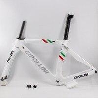 Фирменная Новинка белый 700C дорожный велосипед T1100 3 К полный углеродного волокна велосипед карбоновая рама легкий вилка + + подседельный хом