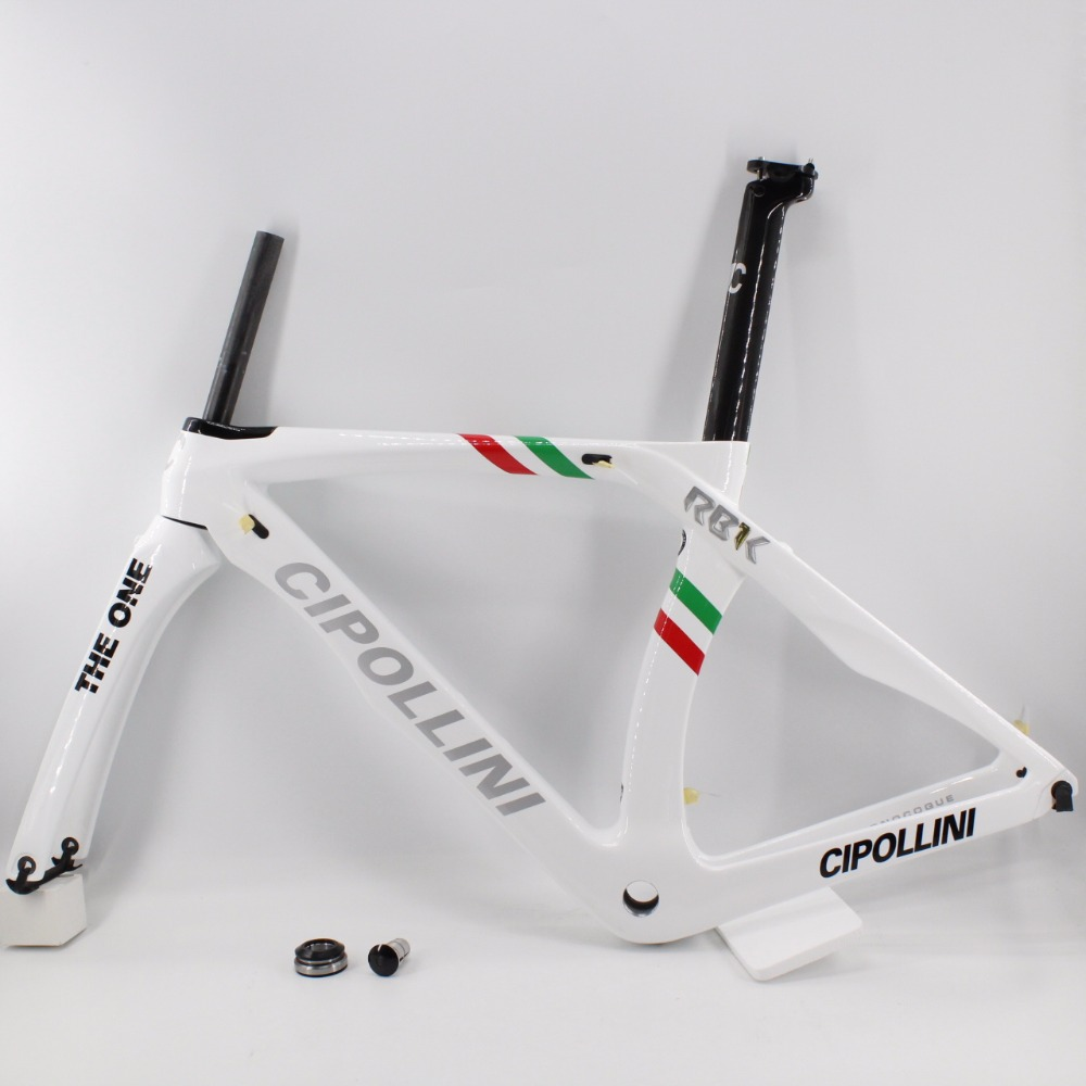 Brand New blanc 700C Route vélo T1100 3 k pleine fiber de carbone vélo cadre en carbone plus léger fourche + tige de selle + pince + casques bateau Libre