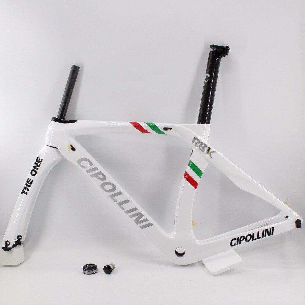 Tout nouveau vélo de route blanc 700C T1100 3 K vélo en fibre de carbone cadre en carbone fourche la plus légère + tige de selle + pince + casques livraison gratuite