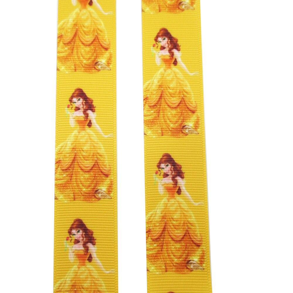 Дэвид аксессуары 1 «25 мм мультфильм девушка высокого качества Печатных Полиэфирная Лента 5yds, поделки ручной работы материал, свадебная подарочная упаковка, 5Yc2357
