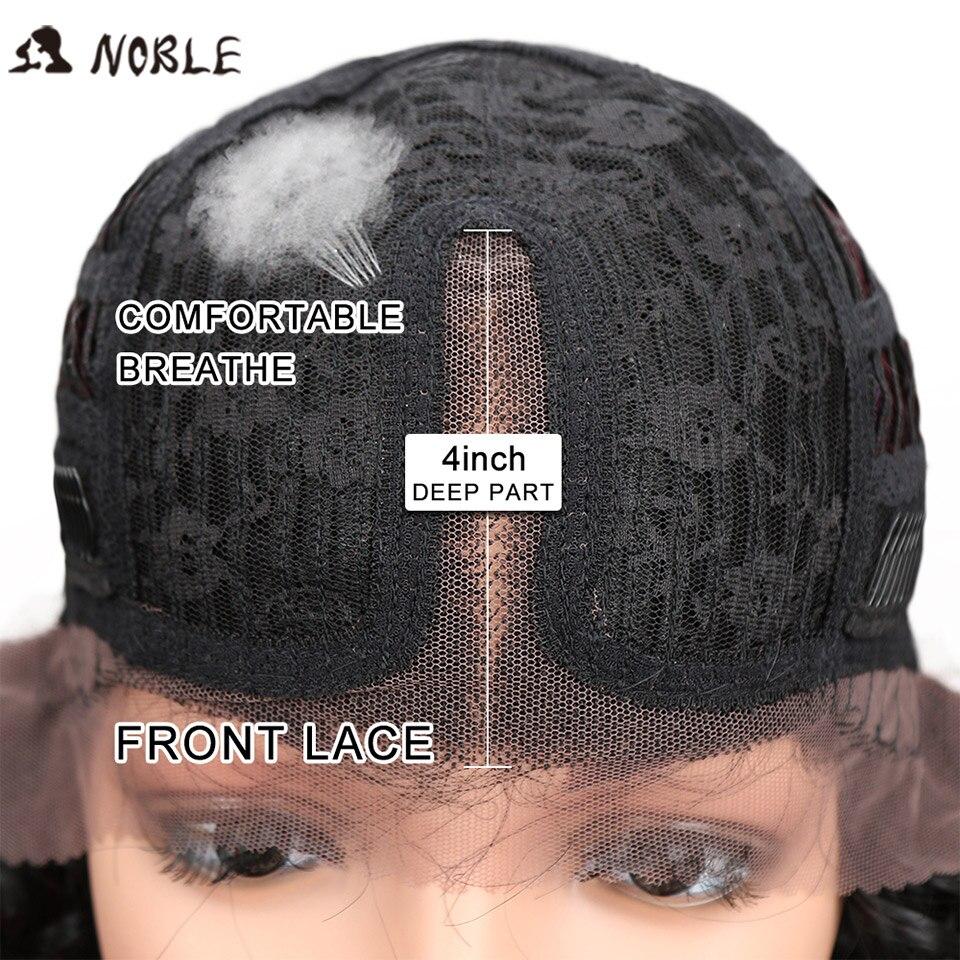 Noble Hair Products Lace Front Parykar 30 tum långa vågiga mörka - Syntetiskt hår - Foto 5