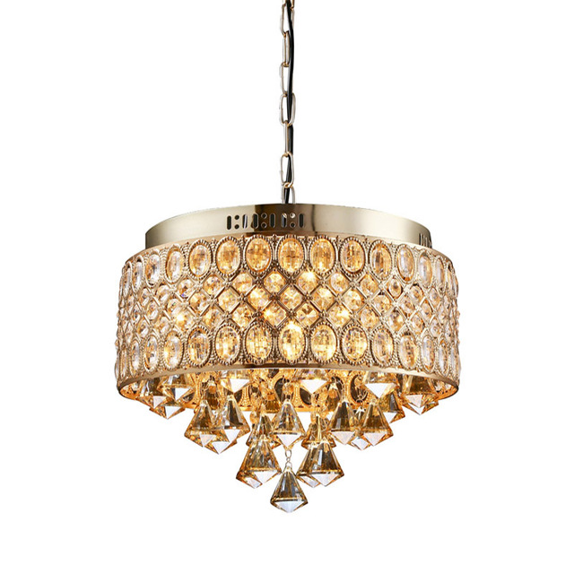 Crystal Chandelier Lighting Gold Lamp Bracket Modern Retro (Not ...