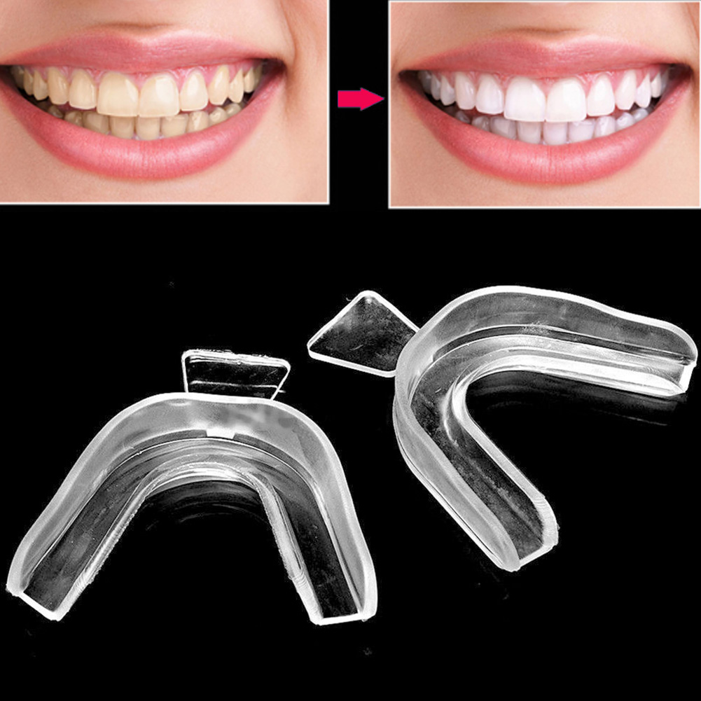 2PCS Thermoform Moldable  Mouth Teeth  Trays Tooth Guard Whitener