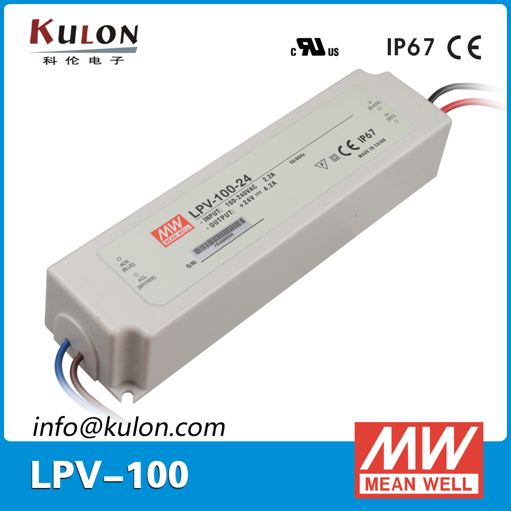 цена на Genuine Mean Well LPV-100-24 Single output 100W 24V 4.2A power supply LED driver AC/DC